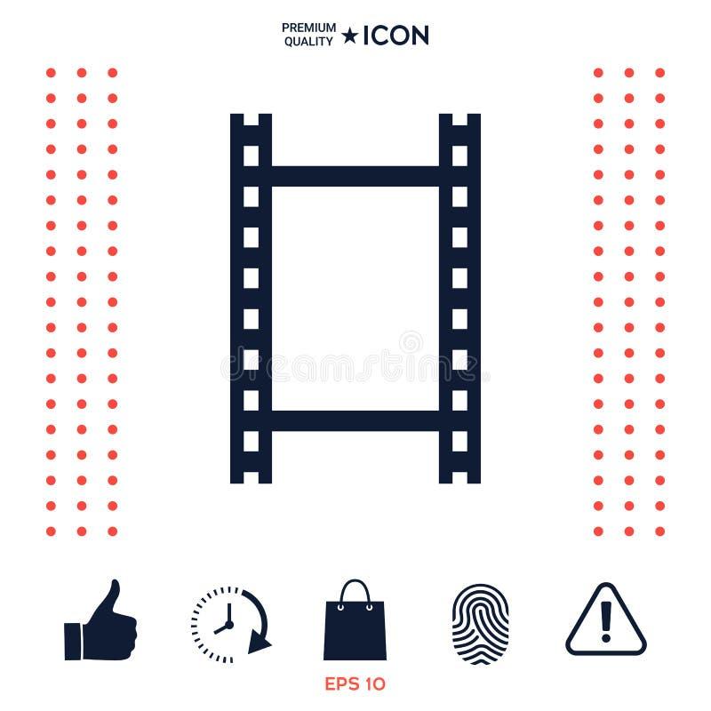 Kamery rolka, fotograficzny film, kamery ekranowa ikona ilustracja wektor