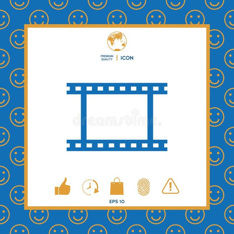 Kamery rolka, fotograficzny film, kamera symbolu ekranowa ikona ilustracji