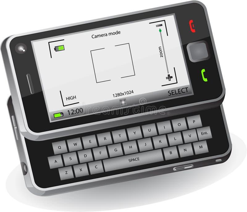 kamery telefon komórkowy ilustracja wektor
