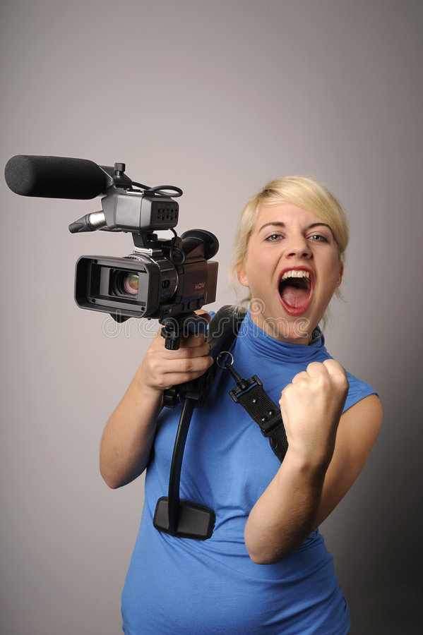 kamery wideo kobieta zdjęcie royalty free