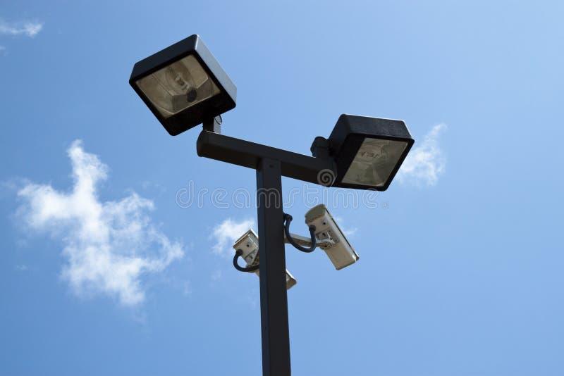 kamery zaświecali inwigilację fotografia stock