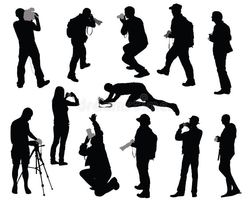kamerzyści ustawiający ilustracji