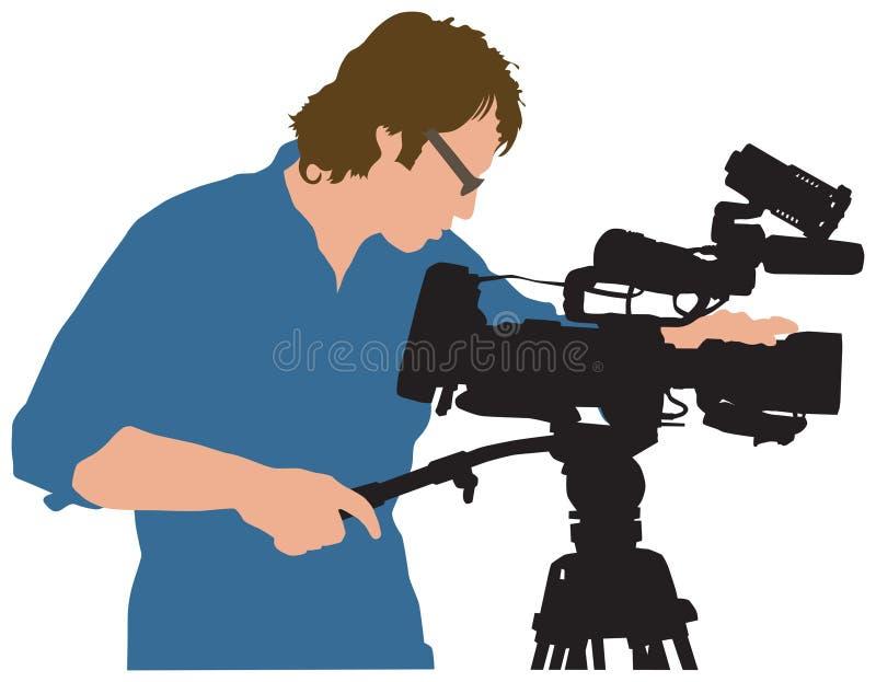 kamerzysta ilustracja wektor