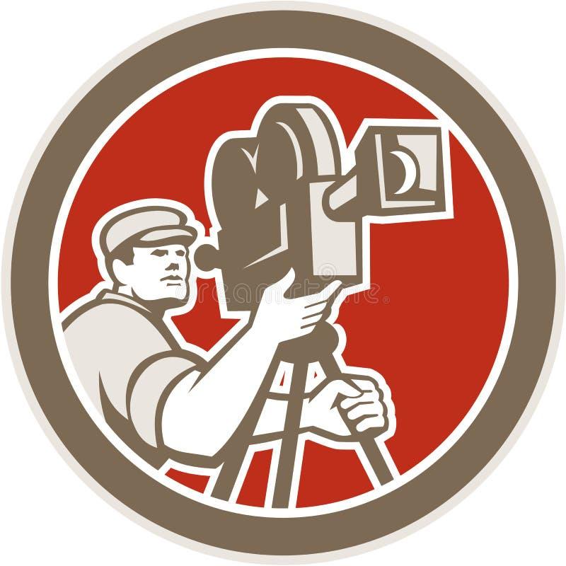 Kamerzysty rocznika filmu filmu kamera Retro royalty ilustracja