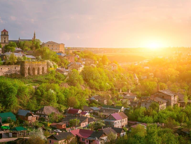 Kamianets Podilskyi都市风景 免版税库存图片