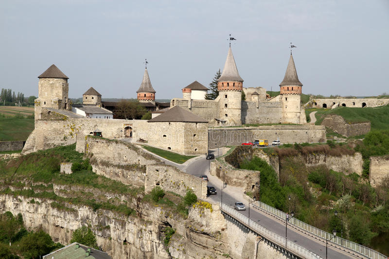 Kamianets-Podilskyi Castle royalty free stock image