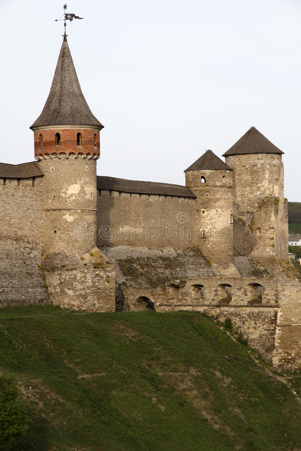 Kamianets-Podilskyi Castle stock photography