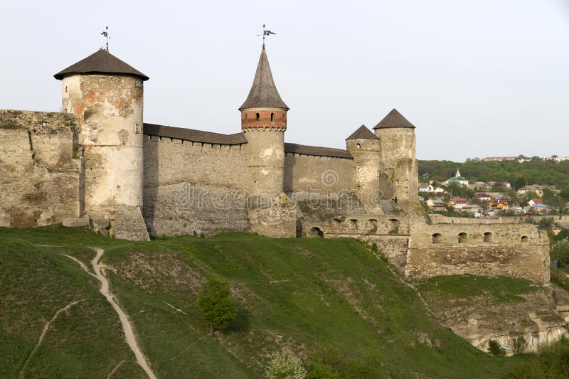Kamianets-Podilskyi Castle. Is a former Ruthenian-Lithuanian castle and a later three-part Polish fortress located in the historic city of Kamianets-Podilskyi royalty free stock images