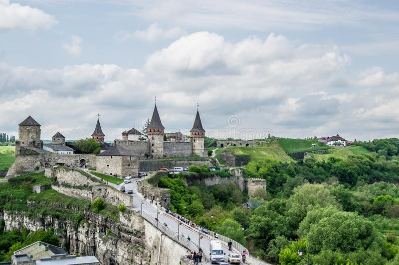 Kamianets-Podilskyi Castle in Ukraine royalty free stock photo