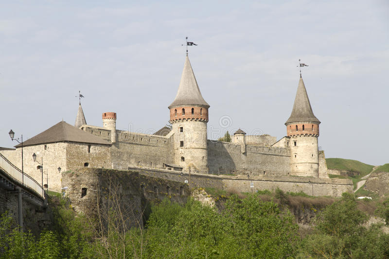 Kamianets-Podilskyi Castle, Ukraine. In the western part of the country royalty free stock photography