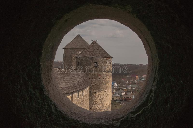 The Kamianetsky fortress consists of eleven towers, each of which has its name and history. royalty free stock images