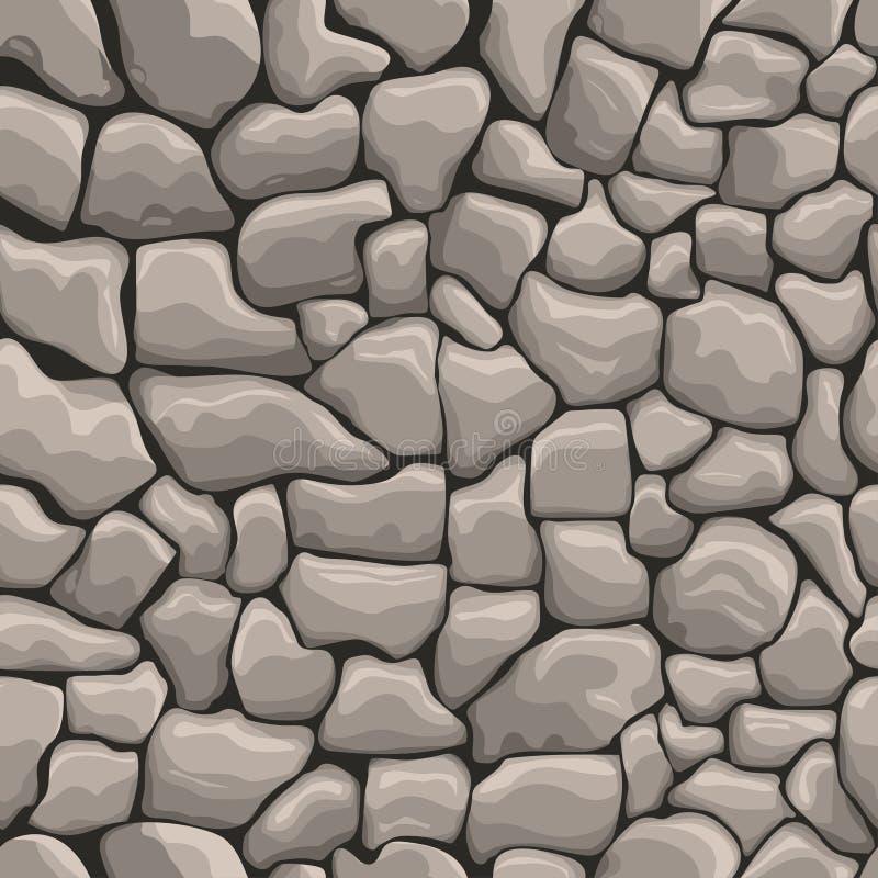 Kamień ściany bezszwowa tekstura ilustracji