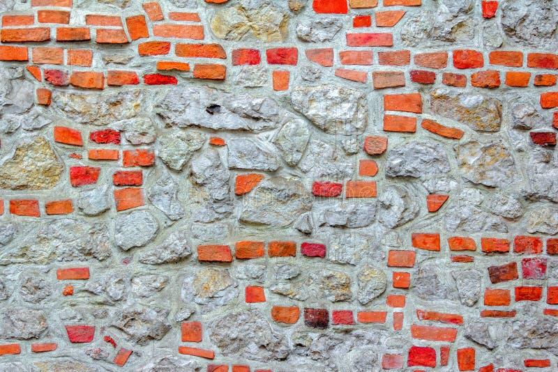 Kamień i ściana z cegieł stary budynek zdjęcie royalty free