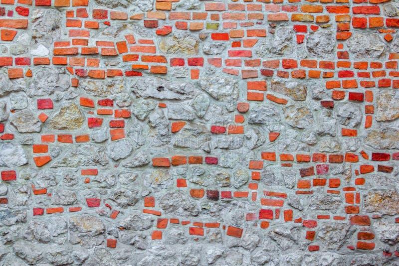Kamień i ściana z cegieł stary budynek zdjęcie stock