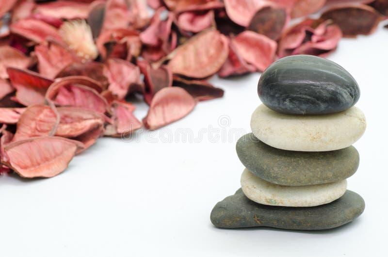 Kamień i potpourri obrazy royalty free
