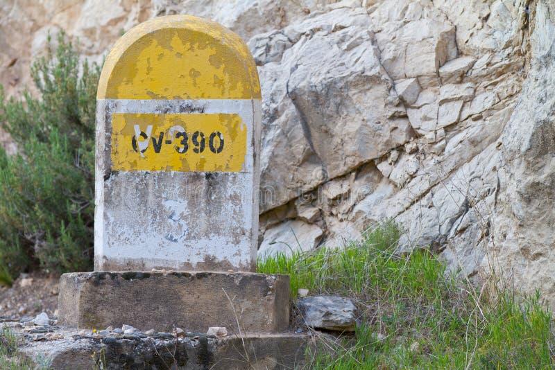 kamień milowy góry zdjęcie stock