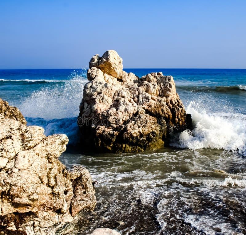 Kamień na plaży obraz stock