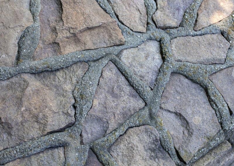 Kamień sharped ścienny tło dzień fotografia royalty free