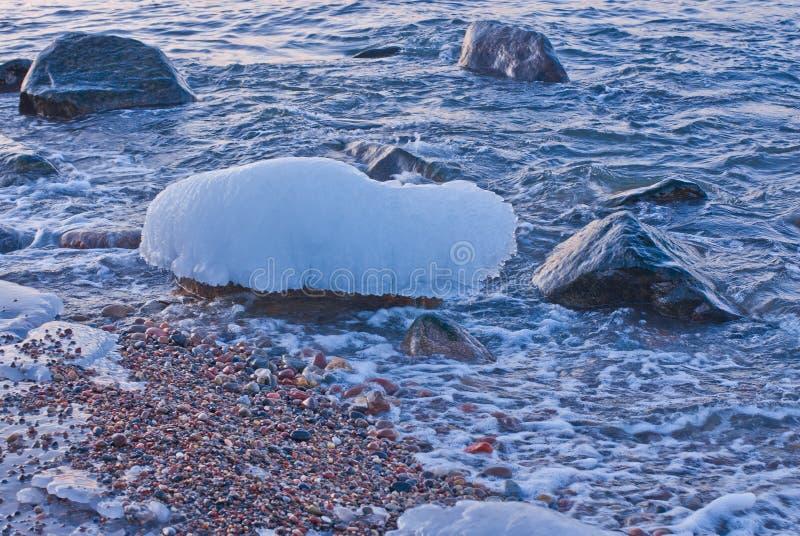 Kamień w lodzie & x22; hat& x22; zdjęcia stock