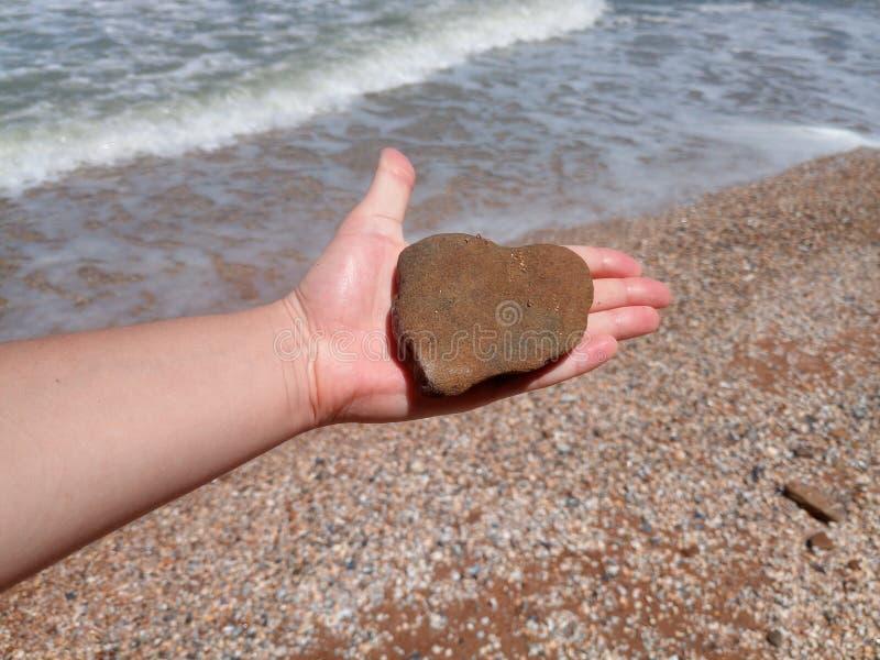 Kamie? w formie serca fotografia stock