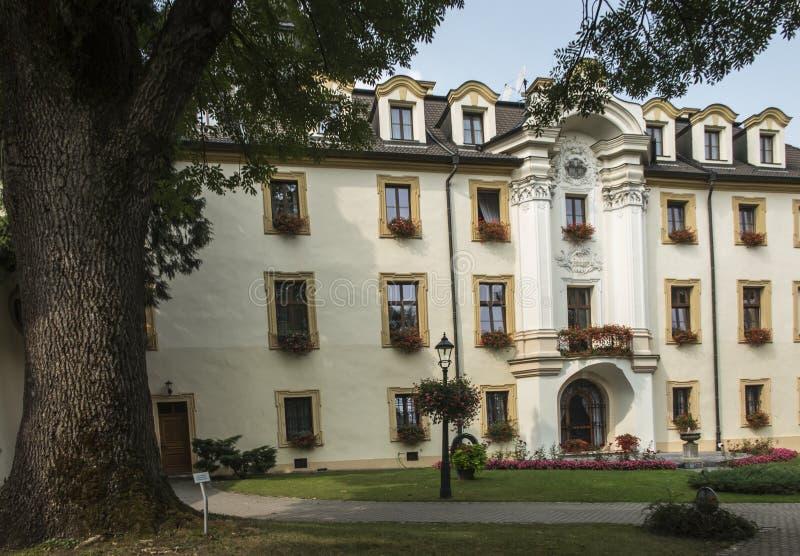 KAMIEN SLASKI, POLEN - Augusti 28, 2018: Slotten i Kamien Sl royaltyfria bilder