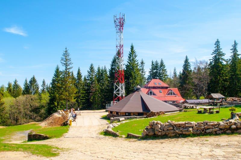 Kamienczyk mountain hut near Szklarska Poreba, Karkonosze, Giant Mountains, Poland. stock photography