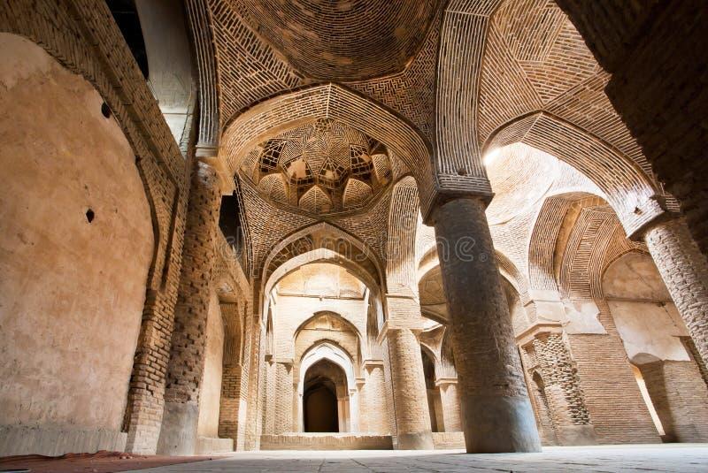 Kamieni łuki stary perski meczet zdjęcie royalty free
