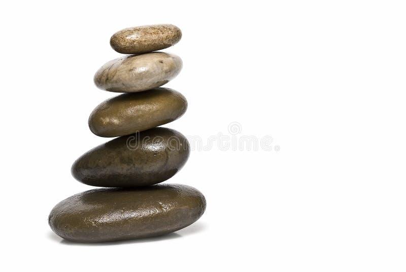 kamienia balansowy kuracyjny zen zdjęcie royalty free