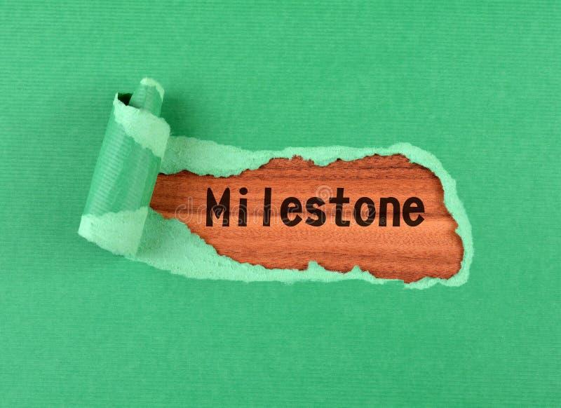 Kamienia milowego słowo zdjęcia stock