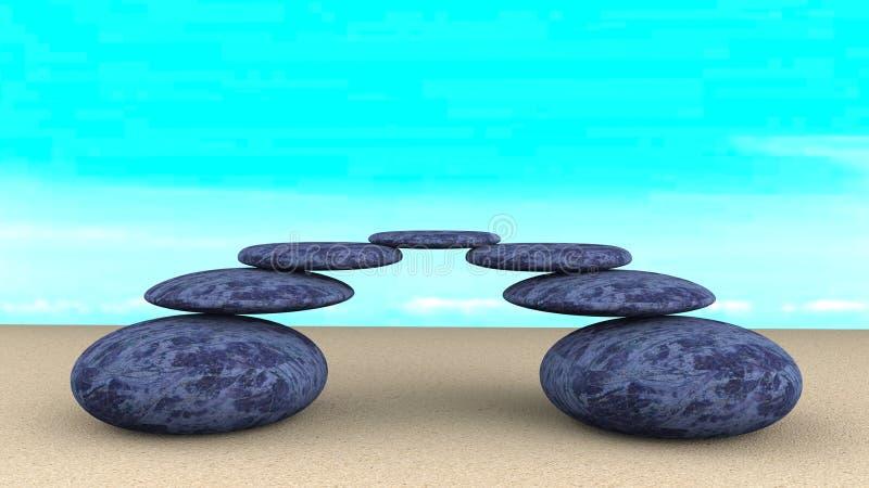 Kamienia zrównoważony abstrakt obraz stock