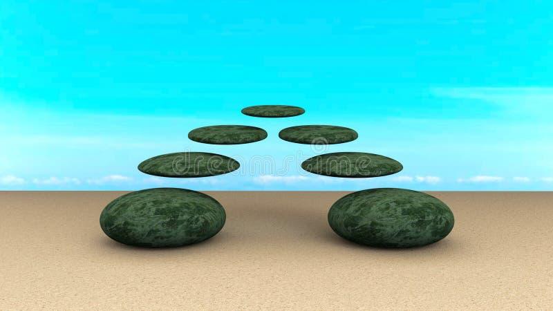 Kamienia zrównoważony abstrakt fotografia stock