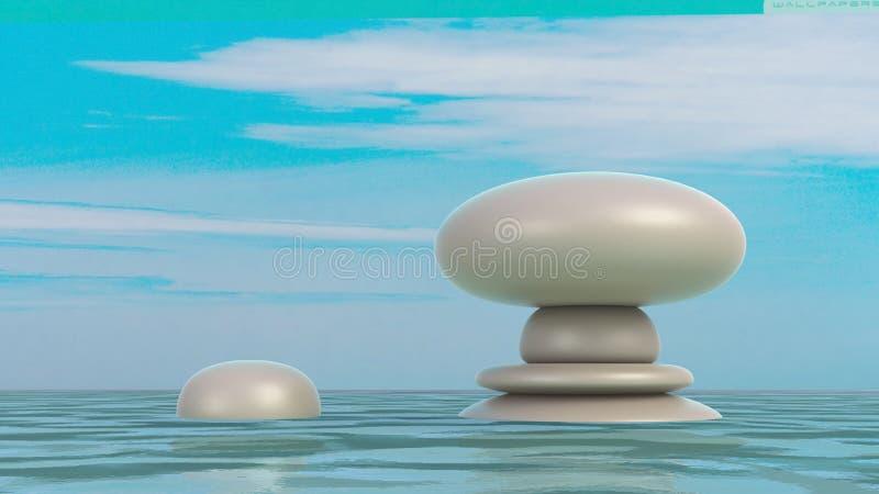 Kamienia zrównoważony abstrakt ilustracji