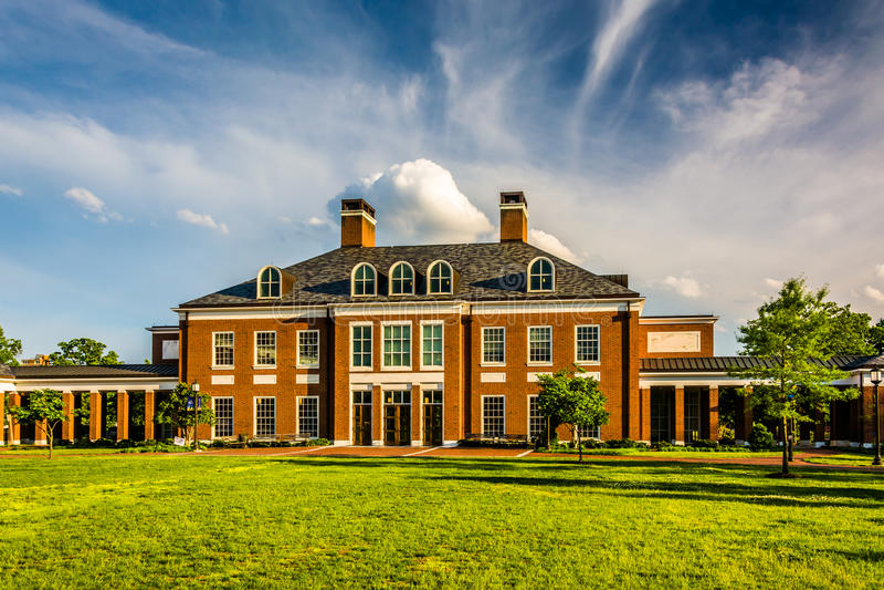 Kamieniarz Hall przy John Hopkins uniwersytetem w Baltimore, Maryland obraz royalty free