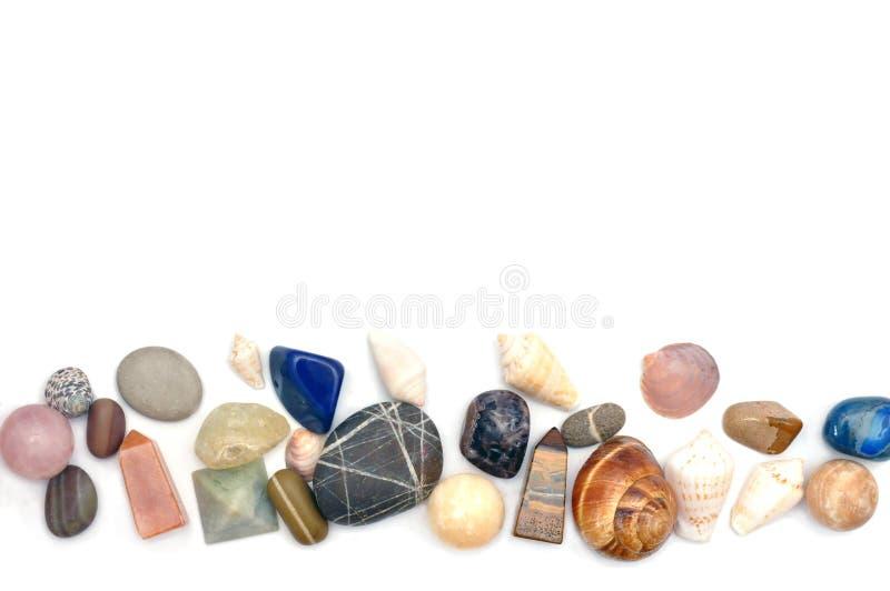 Kamienie i skorupy obrazy stock