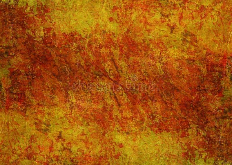 Kamienie Maluje Tajemniczego Żółtego Czerwonego Pomarańczowego Brown Grunge tekstury jesieni tła Ciemną Ośniedziałą Zniekształcaj zdjęcie royalty free
