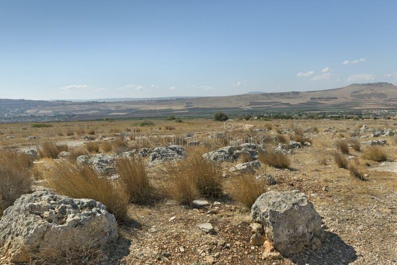 Kamienie na górze Arbel obraz royalty free