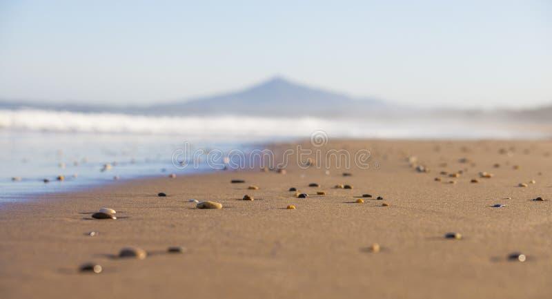 Kamienie na piaskowatej plaży fotografia royalty free
