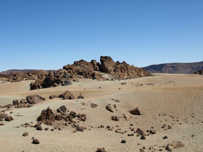 kamienie na pustyni zdjęcie royalty free