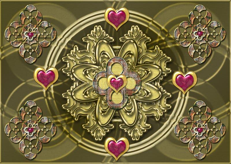 Kamienie Ornamentu Metali Fotografia Stock