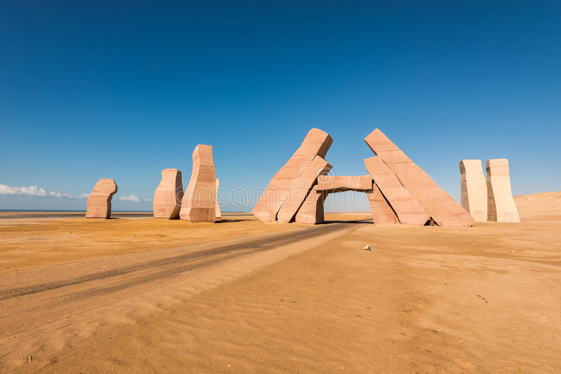 Kamienie w parku narodowym Rasa Mohammed obraz royalty free