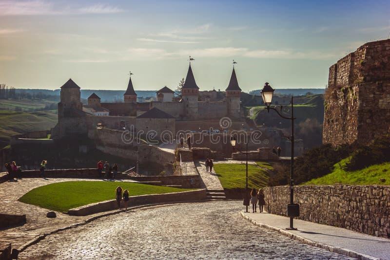 Kamieniec Podolski -9 April 2018 fästning - en av den mest fa arkivfoto