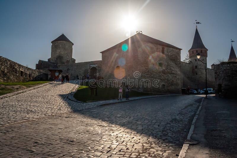 Kamieniec Podolski -9 April 2018 fästning - en av den mest fa royaltyfri foto
