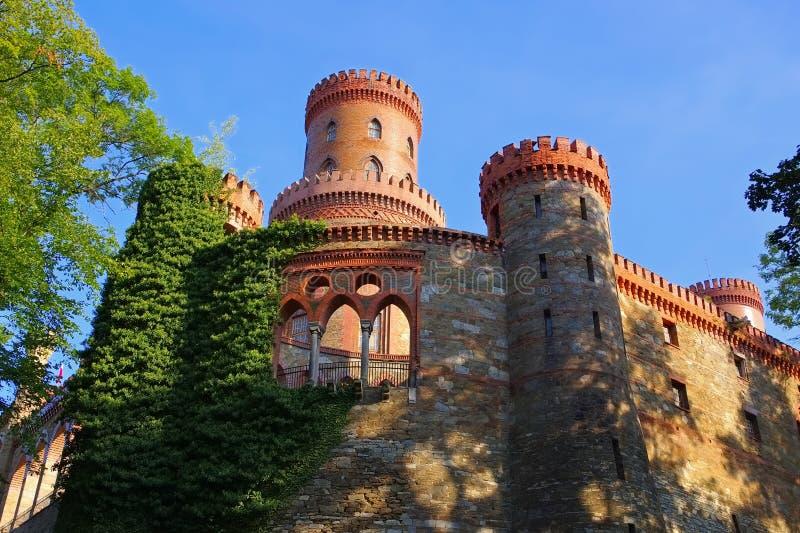 Kamieniec Zabkowicki Schloss slott, Silesia arkivbild