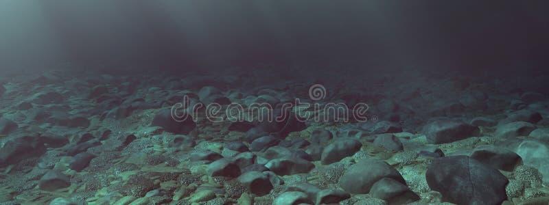 Kamienisty dno morskie royalty ilustracja