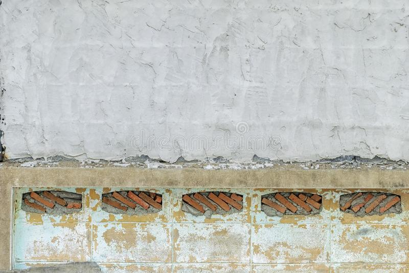 Kamienna ściana broguje Kamienie układają w prostokątnym obraz royalty free