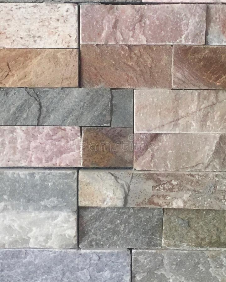 kamienna ściana, kamień różny początek, tekstura obrazy royalty free