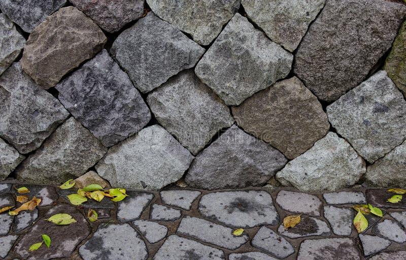 Kamienna ściana Kanazawa kasztel w Japonia obrazy royalty free