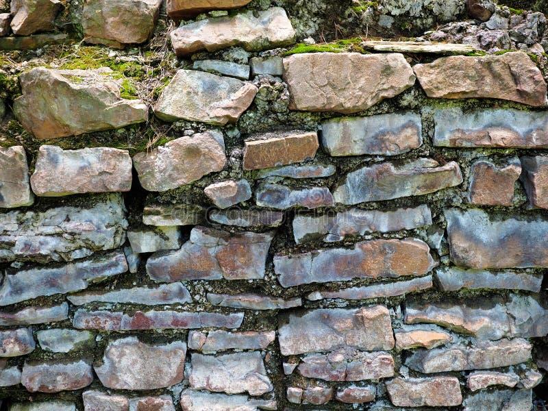 Kamienna ściana stary dom skały, stary kamieniarstwo Tekstura, kamieniarka zdjęcia stock