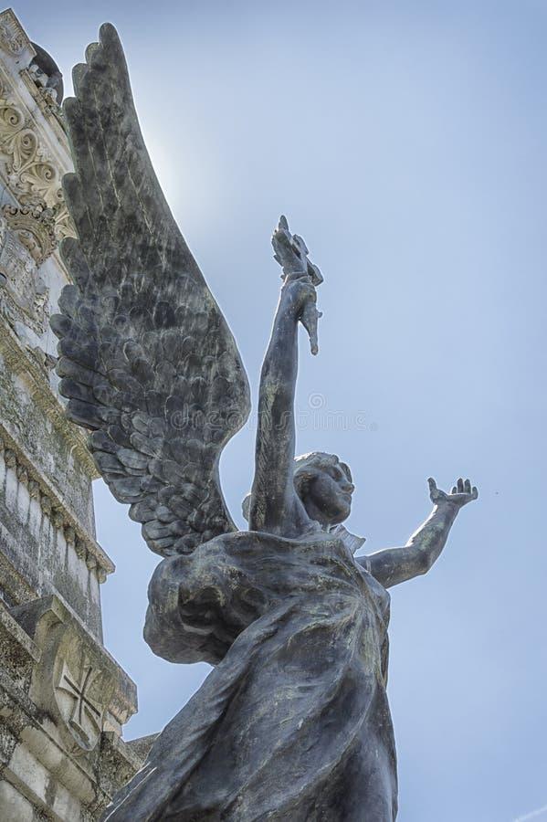 Kamienna anioł statua, piękny rappresentation zdjęcie stock