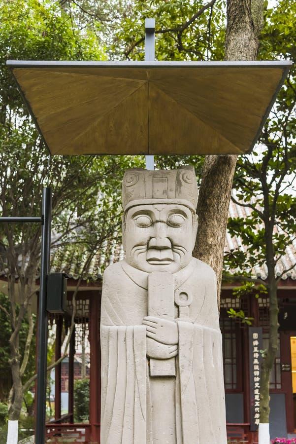 Kamienna cywilna oficjalna statua zdjęcie stock